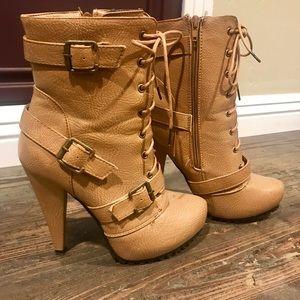 "Charlotte Russe Heeled Boots! (5"" heel)"